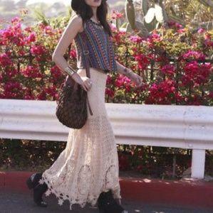 NWT Free People Mi Amore Maxi Skirt